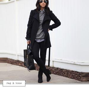 rag & bone The Legging Jeans in Black Plush